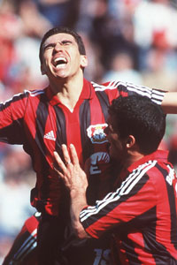 Michael Ballack and Lucio Leverkusen