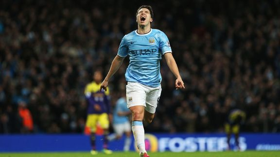 Samir Nasri Manchester City celeb Swansea second