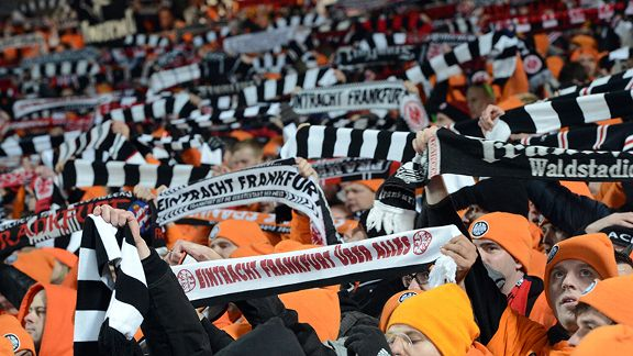 Frankfurt fans travelled to Bordeaux en masse to light up the Europa League.