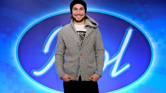 GIF Sundsvall player Kevin Walker participates in 'Idol 2013'.