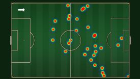 Robin van Persie had just two touches inside the Newcastle area.