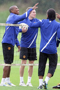 Ashley Young, Tom Cleverley and Anderson