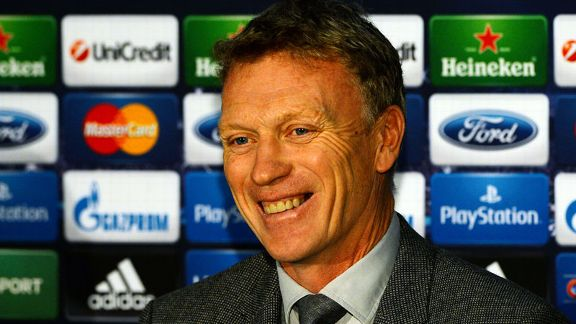 David Moyes smile news conference presser Man United