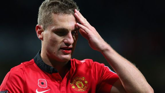 NEmanja Vidic bloodied lip