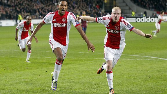 Ajax youngster Davy Klaassen (right) could be a real star.