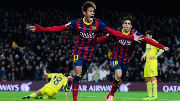 Neymar Barcelona celeb second goal
