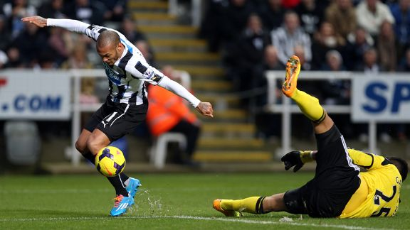Yoan Gouffran scored for Newcastle against Southampton.