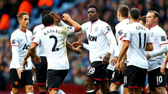 Danny Welbeck first goal group celeb Villa United