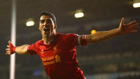 Luis Suarez bagged a brace for Liverpool in their win against Tottenham.