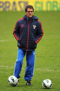 Fabio Capello Russia training