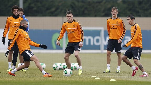 Gareth Bale sustained the injury during Tuesday's training session.