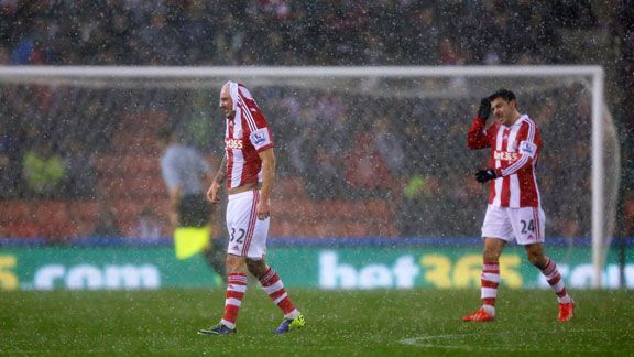 Stoke vs Man Utd rain BETTER