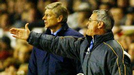 Claudio Ranieri was the manager opposite Arsene Wenger in their 2004 meeting.