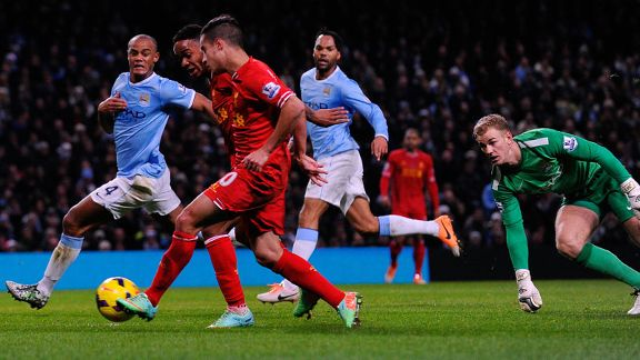 Coutinho goal Kompany tackle City Liverpool
