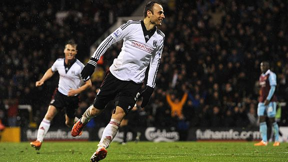 Dimitar Berbatov scored the goal which earned Fulham a 2-1 win over relegation rivals West Ham.