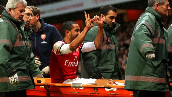 Theo Walcott 2-0 gesture Arsenal vs. Spurs