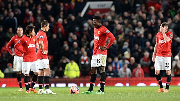 Man United's look stunned after Wilfried Bony's late winner for Swansea in the FA Cup.