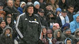 Sam Allardyce rain hood West Ham City