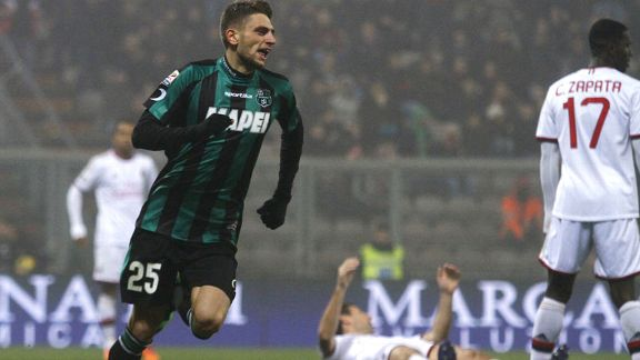 Domenico Berardi celebrates
