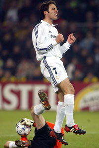 Raul Real MAdrid celebration solo