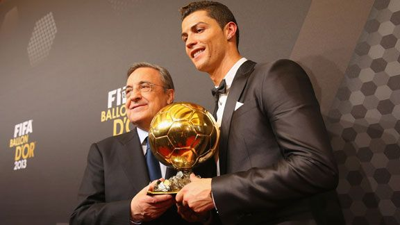 Cristiano Ronaldo and Florentino Perez Ballon d'OR