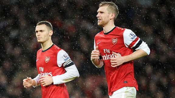 Thomas Vermaelen is the only natural reserve should Per Mertesacker be ruled out.