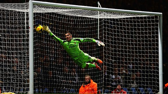 Adrian is powerless to keep out Yohan Cabaye's free-kick, which secured Newcastle's 3-1 win at West Ham.