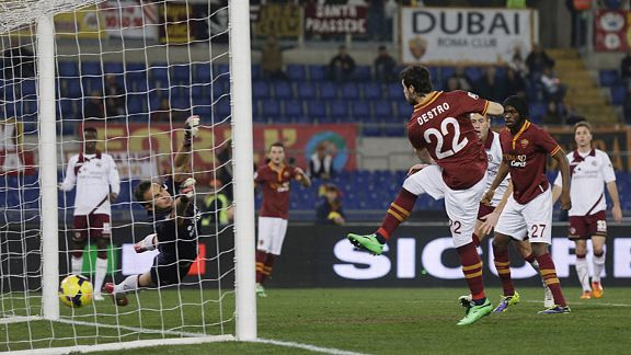 Mattia Destro fires Roma into an early lead at home to Livorno.