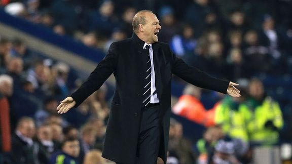 Pepe Mel West Brom Everton first match sidelines appeal arms wave