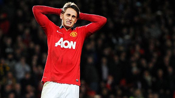 Adnan Januzaj grimaces after missed in the shootout against Sunderland.