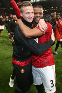 Alex Buttner and Patrice Evra title celeb