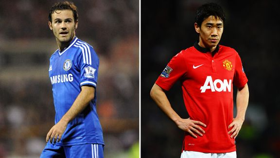 Juan Mata and Shinji Kagawa split screen