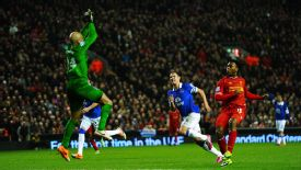 Daniel Sturridge his second goal Liverpool vs Everton