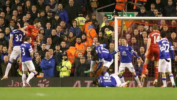 Steven GErrard first goal Liverpool vs Everton