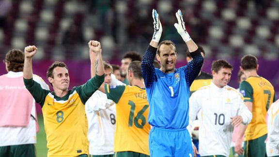 Australia thrashed Uzbekistan 6-0 in the 2011 Asian Cup semifinal.