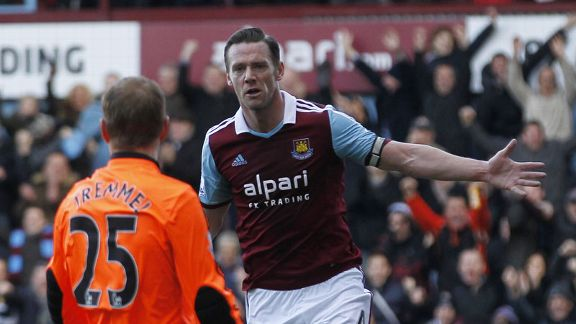 Kevin Nolan first goal celeb West Ham Swansea