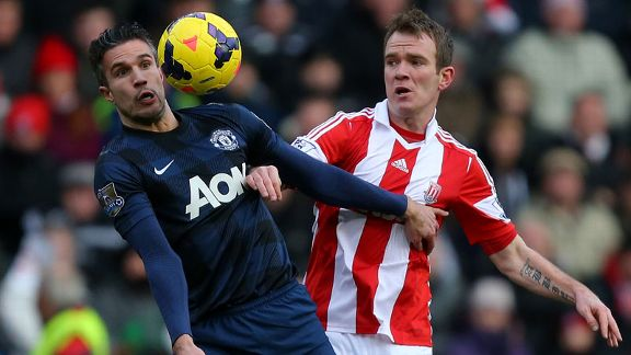 Robin van Persie battle Stoke United