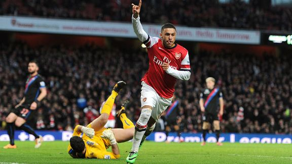 Alex Oxlade-Chamberlain goal Arsenal vs Crystal Palace