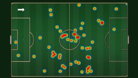 Wayne Rooney's touch map for the second half, when he operated in midfield, shows he operated in too deep a position to create goals.