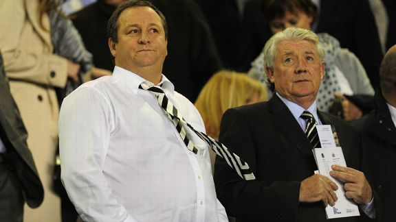 Mike Ashley and Joe Kinnear Newcastle