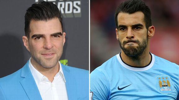 Zachary Quinto and Alvaro NEgredo lookealike