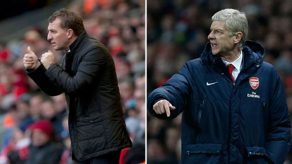 Brendan Rodgers Arsene Wenger split Liverpool Arsenal
