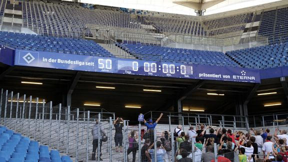 Hamburg celebrated 50 years in the Bundesliga at the start of the season.