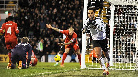 Kieran Richardson put Fulham in front against Liverpool for a second time.