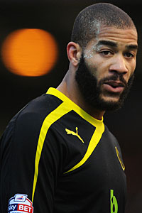 Oguchi Onyewu in Sheffield Wednesday colours.