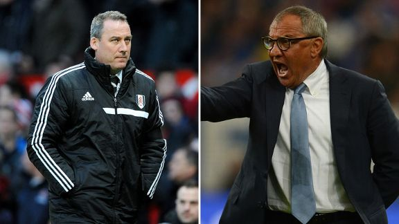 Rene Meulensteen and Felix Magath Fulham