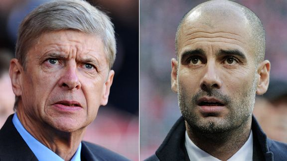 Arsene Wenger and Pep Guardiola will go head to head.