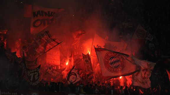 Bayern Munich fans could taunt their hosts with English football songs.