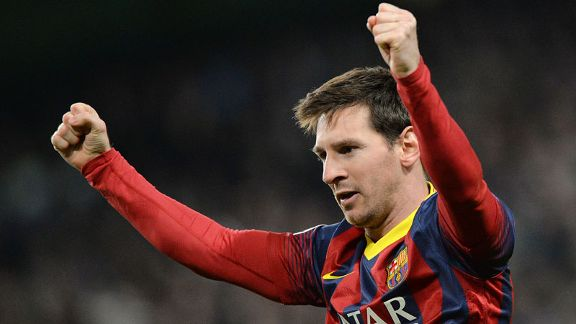 Lionel Messi solo celeb Man City vs Barcelona