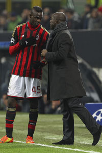 Clarence Seedorf and Mario Balotelli